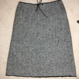 J. Crew Skirts - J Crew wool winter chevron midi skirt size 10